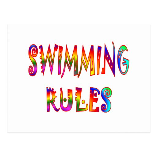 Swimming Rules Post Cards