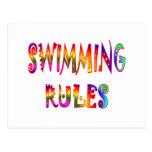 Swimming Rules Postcard
