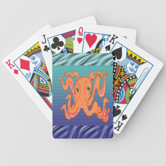 Swimming Sampson Octopus Bicycle Playing Cards
