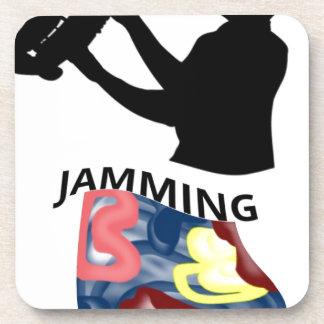 Swimming Saxophone Jamming Beverage Coaster