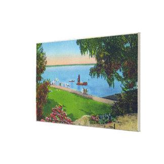 Swimming Scene at Cayuga Lake State Park Canvas Print