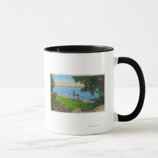 Swimming Scene at Cayuga Lake State Park Mug