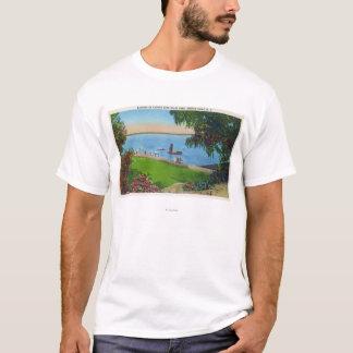 Swimming Scene at Cayuga Lake State Park T-Shirt