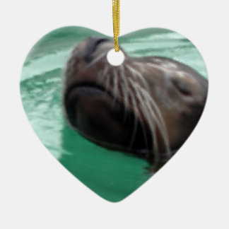 Swimming Sea Lion Relaxing Ornament