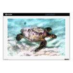 Swimming Sea Turtle Laptop Skin