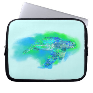 Swimming Sea Turtle Laptop Sleeve