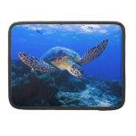Swimming sea turtle MacBook pro sleeve