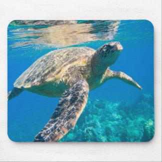 Swimming Sea Turtle Mouse Pad
