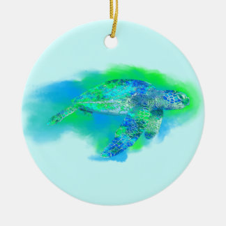 Swimming Sea Turtle Christmas Tree Ornament