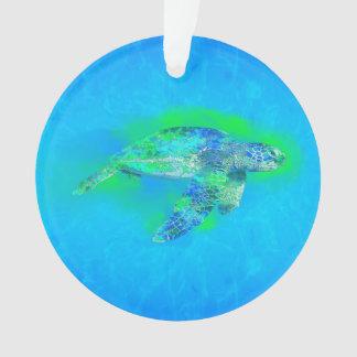 Swimming Sea Turtle Ornament