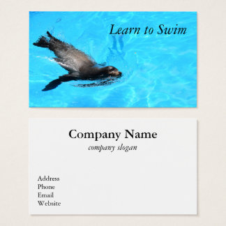 Swimming Seal Business Card