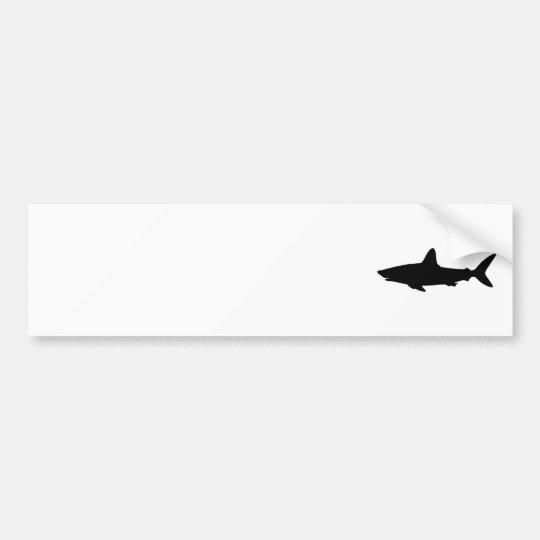 Swimming Shark Bumper Sticker