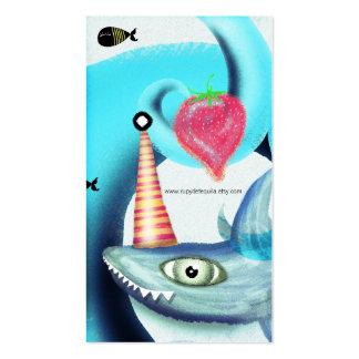 Swimming Shark Cool Swirls Business Cards