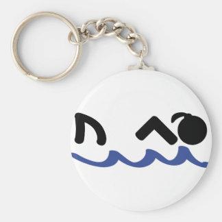 swimming shark girl keychain