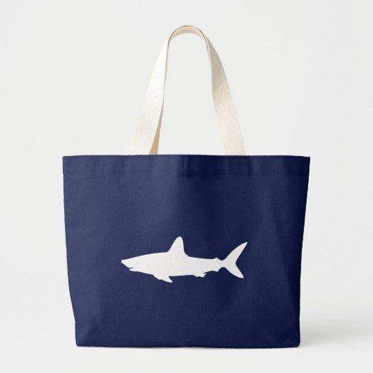 Swimming Shark Large Tote Bag