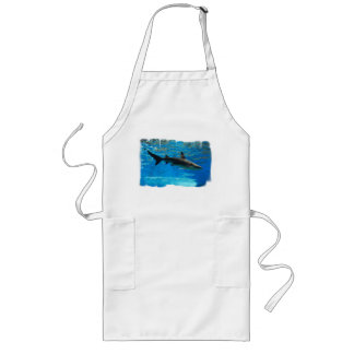 Swimming Shark Long Apron