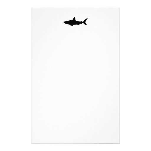 Swimming Shark Personalized Stationery