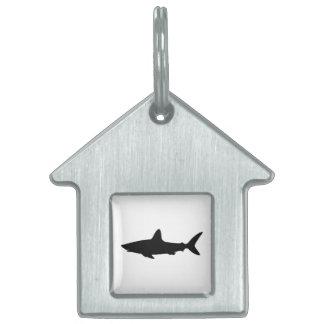 Swimming Shark Pet Name Tag