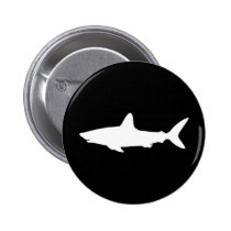 Swimming Shark Pinback Button