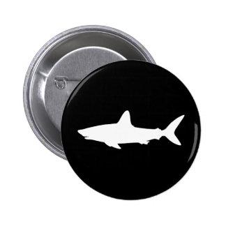 Swimming Shark Pinback Button