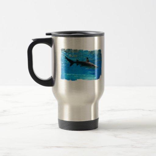 Swimming Shark Travel Mug