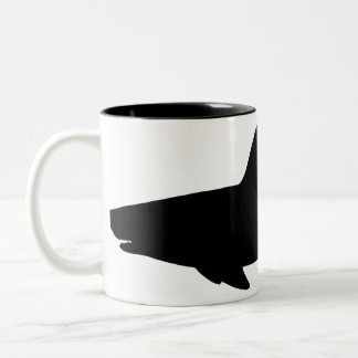 Swimming Shark Two-Tone Coffee Mug