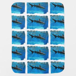 Swimming Shark Swaddle Blankets