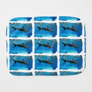 Swimming Shark Burp Cloth