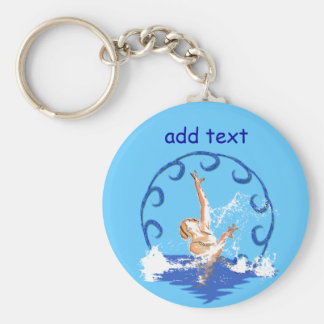 swimming sirene custom text keychain