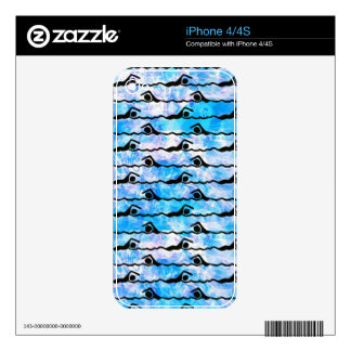 SWIMMING DECALS FOR iPhone 4