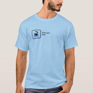 Swimming -- Small Logo -- Customizable T-Shirt