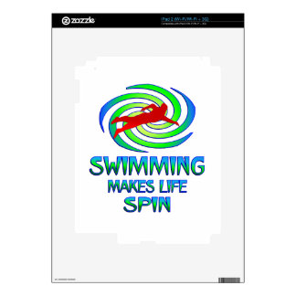 Swimming Spins Decal For iPad 2