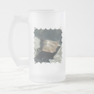 Swimming Stingray Frosted Beer Mug