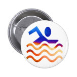 Swimming Success - Cool mind in hot times Buttons