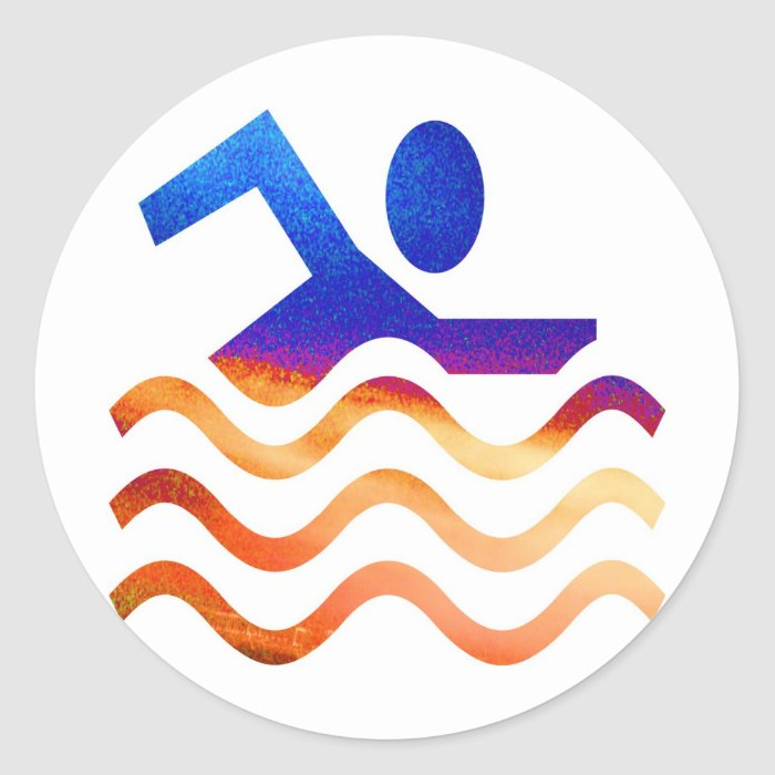 Swimming Success - Cool mind in hot times Classic Round Sticker