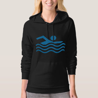Swimming Success  Swimmer Fleece Pullover Hoodie