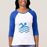 Swimming Sucess Swim Swimmer fun Tee Shirt
