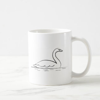 Swimming Swan Coffee Mug