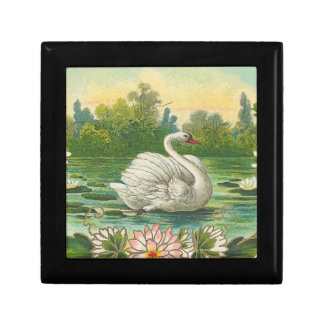 Swimming Swan Jewelry Box