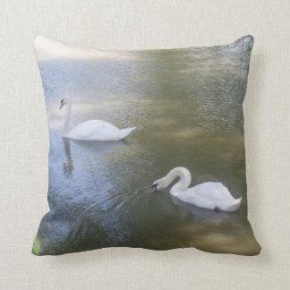 Swimming Swans Pillow