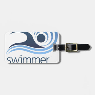 Swimming Swimmer Concept Luggage Tag