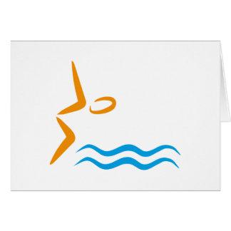 swimming tarjeta de felicitación