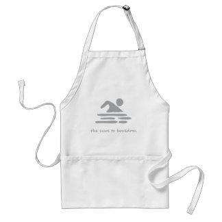 Swimming....the cure to boredom adult apron