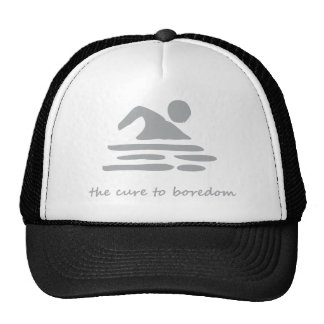 Swimming....the cure to boredom trucker hat