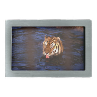 Swimming tiger Belt Buckle