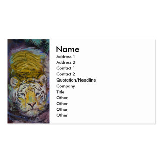 Swimming Tiger Business Card Templates