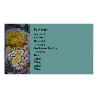 Swimming Tiger Business Card