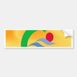 Swimming to calm and comfort bumper sticker