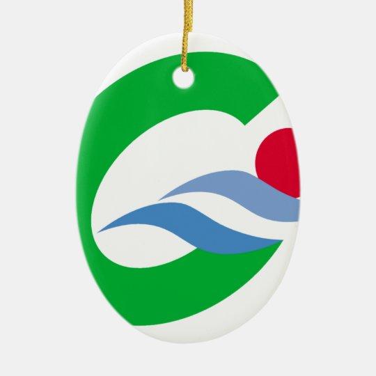 Swimming to calm and comfort ceramic ornament