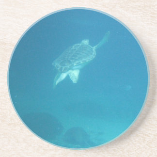 Swimming Turtle Beverage Coasters